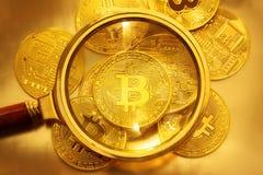 Bitcoins Foto de archivo libre de regalías