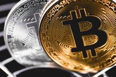 Bitcoins Immagine Stock Libera da Diritti