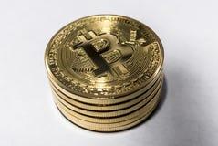 堆bitcoins 免版税库存图片