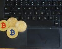 Bitcoins Immagini Stock Libere da Diritti
