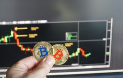 Bitcoins stock afbeeldingen
