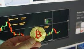 Bitcoins stock afbeelding