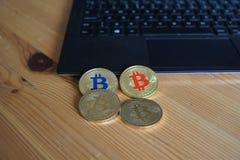 Bitcoins stock foto's