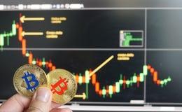 Bitcoins royalty-vrije stock afbeeldingen