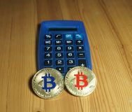 Bitcoins fotografia de stock