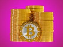 Bitcoins стоковые изображения