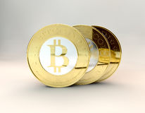 Bitcoins Royalty-vrije Stock Foto's