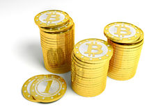 Bitcoins Images libres de droits