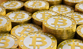 Bitcoins Photos libres de droits
