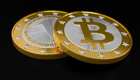 Bitcoins Photo stock