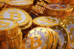 Bitcoins Photos stock