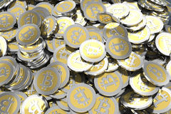Bitcoins Photographie stock libre de droits