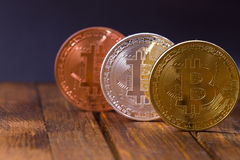 Bitcoins Stockfotografie