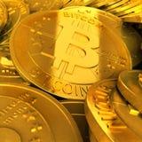 金bitcoins 免版税库存照片