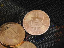 Bitcoins fotografie stock
