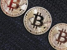 Bitcoins Photographie stock