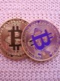 2 bitcoins Стоковое Изображение RF