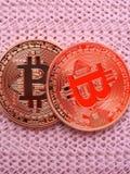 2 bitcoins Стоковое Фото