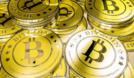 Bitcoins Fotografia Stock