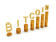 Bitcoins Illustrazione di Stock