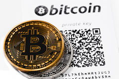 Bitcoins Lizenzfreie Stockfotos