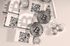 Free Bitcoins And Rings Stock Images - 96903194