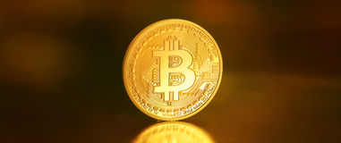 Bitcoins, bit coin BTC the new virtual money Royalty Free Stock Images