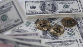 Bitcoins BTC inventa o giro com contas de 100 dólares americanos video estoque