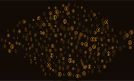 Bitcoins business crypto mining . Vector Gold . Bitcoins business crypto mining . Vector Gold Royalty Free Stock Images