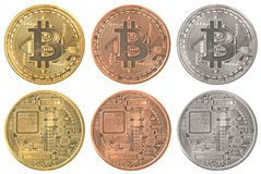 Bitcoins collection set Royalty Free Stock Images