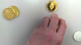 Bitcoins - Crypt-currency, Banking. Bitcoins - Crypt-currency, bitcoin exchange stock video
