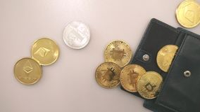 Bitcoins - Crypt-currency, Banking. Bitcoins - Crypt-currency, bitcoin exchange stock video footage