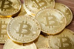 Bitcoins Crypto Currency Stock Images