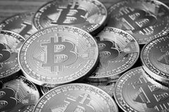 Bitcoins Crypto Currency Royalty Free Stock Image