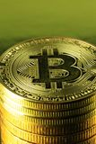 Bitcoins cryptocurrency money Royalty Free Stock Photo
