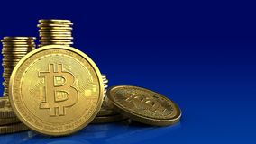 bitcoins 3d Royalty Illustrazione gratis