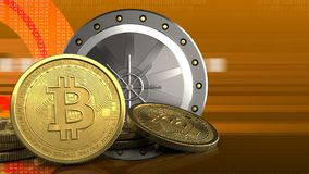 bitcoins 3d Immagine Stock