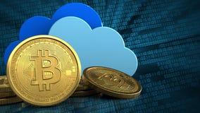bitcoins 3d Royaltyfri Fotografi