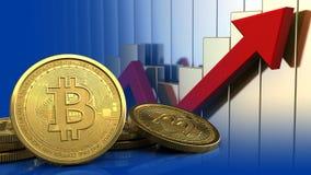 bitcoins 3d Photo libre de droits