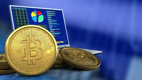 bitcoins 3d Fotografia Stock