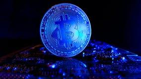 Bitcoins - die neue moderne Währung für bitcoin Zahlungen Stockfoto