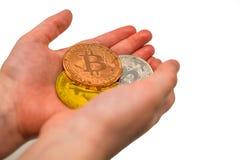 3 Bitcoins disponivel foto de stock royalty free
