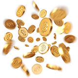 Bitcoins dorato Illustrazione di Stock