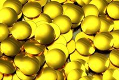 Bitcoins dourado, cripto-moeda virtual nova imagens de stock royalty free