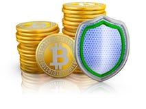 Bitcoins e schermo Illustrazione Vettoriale