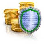 Bitcoins e schermo Illustrazione di Stock