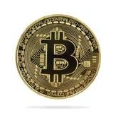 Bitcoins et nouveau concept virtuel d'argent Photo libre de droits