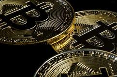 Bitcoins, Gouden Bitcoin, Bitcoin-cryptocurrency Bedrijfs concept Royalty-vrije Stock Fotografie