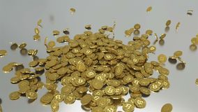 Bitcoins guld- falla ner på silveryttersida Typ - 2