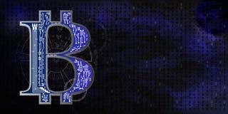 Bitcoins Het scherm van de radar Royalty-vrije Stock Foto